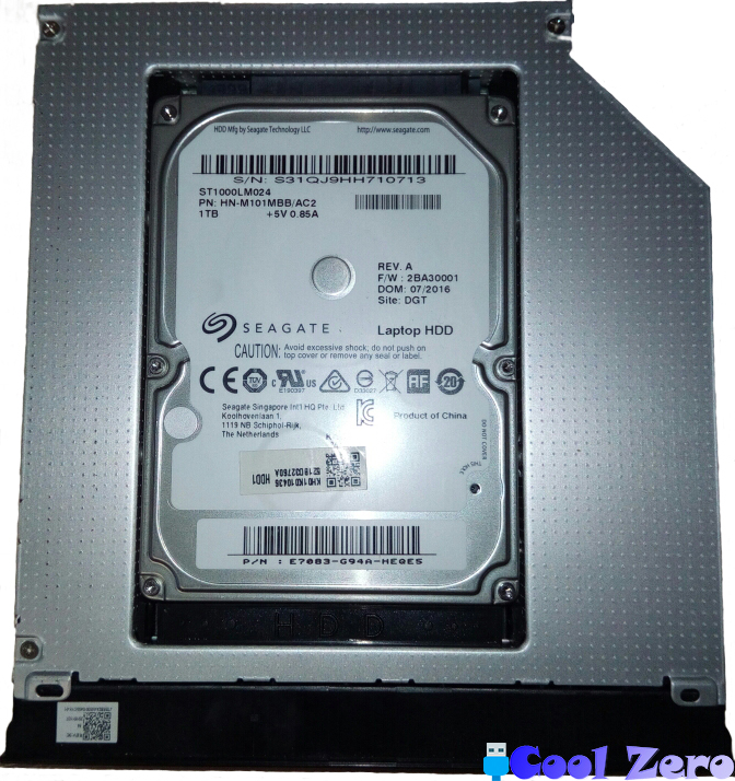 Салазка с установленным HDD