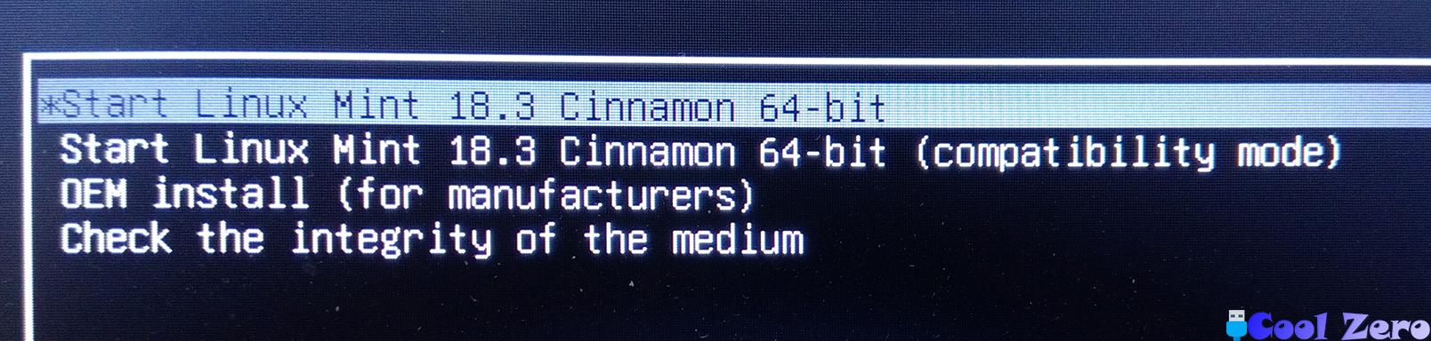Меню загрузки Linux Mint
