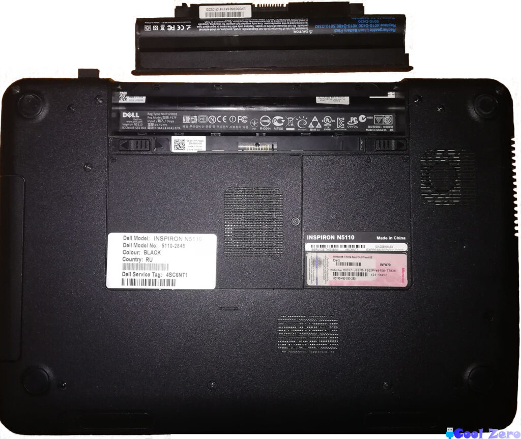 Ноутбук HP Inspiron N5110 чистка от пыли